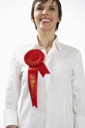 Woman Wearing Ribbon LANG_EVOIMAGES