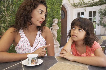 disapprove: Portrait of Mother and Daughter