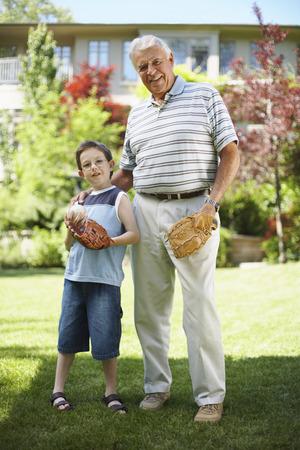 grampa: Portrait of Grandfather with Grandson