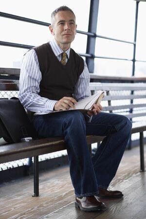 businessman pondering documents: Portrait of Man LANG_EVOIMAGES