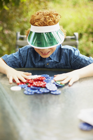 goodluck: Boy with Poker Chips