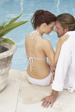Couple at Side of Pool
