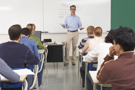 Students and Teacher in Classroom LANG_EVOIMAGES