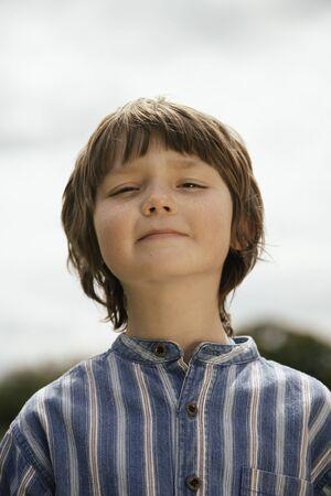 12 13: Portrait of Boy Outdoors