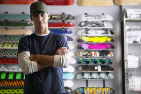 salespeople: Portrait of Skateboard Shop Owner LANG_EVOIMAGES