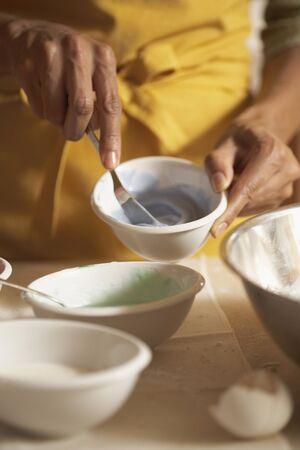 Woman Making Icing