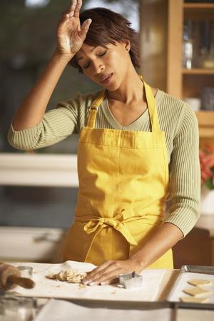 Woman Making Cookies