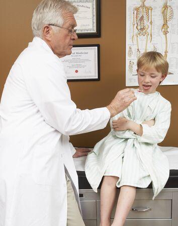 vocational high school: Doctor Examining Patient