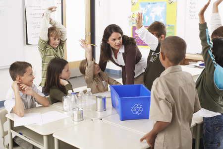 environmental issues: Students and Teacher in Classroom LANG_EVOIMAGES