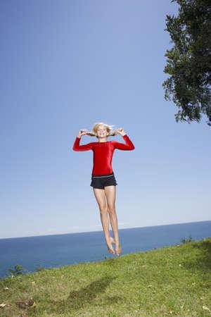 non: Girl Doing Gymnastics Outdoors