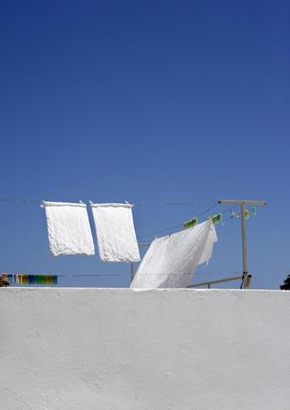 sheet: Towels and Sheet on Clothesline, Linods, Rhodes, Greece