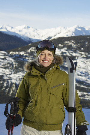 adventuresome: Portrait of Woman with Skis