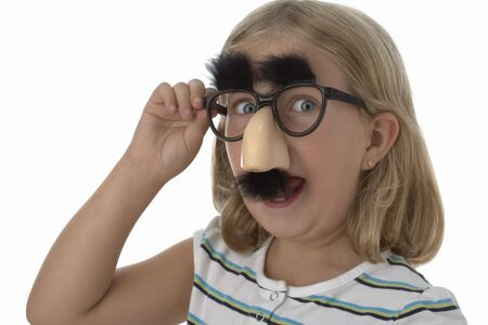 Girl Wearing Groucho Glasses LANG_EVOIMAGES