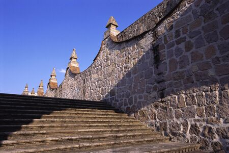 Steps and Wall, Morelia, Michoacan, Mexico