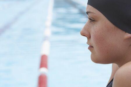 wetting: Female Swimmer