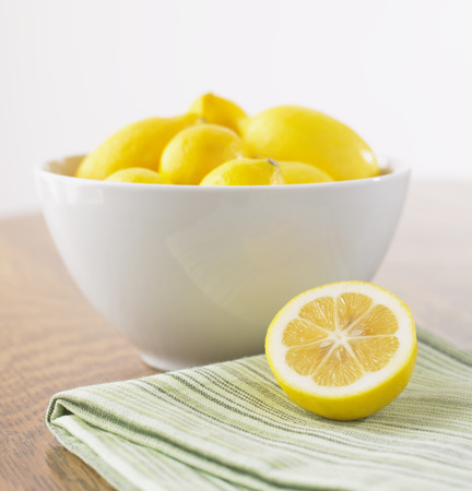 counter top: Bowl of Lemons