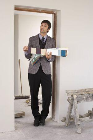 Portrait of Interior Designer in House