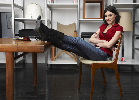 Portrait of Woman in Furniture Store LANG_EVOIMAGES