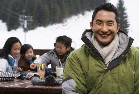 group b: Family at Ski Resort, Whistler, British Columbia, Canada