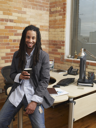 homeoffice: Portrait of Businessman in Office