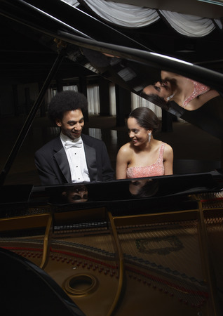 woman mirror: Portrait of Pianists