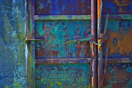 industrial park: Paint Splattered Door