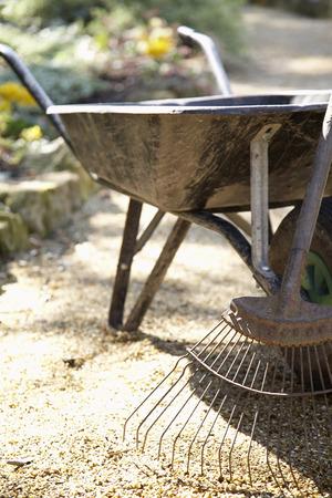 wheel barrel: Wheelbarrow and Rake