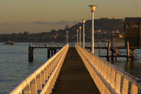 street lamp: Boardwalk, Okahu Bay, Auckland, North Island, New Zealand