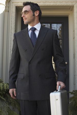 salespeople: Businessman Leaving Building