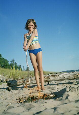 oceanic: Portrait of Girl on Beach