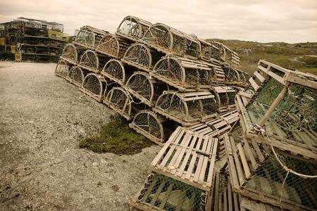 run down: Lobster Traps, Peggys Cove, Nova Scotia, Canada