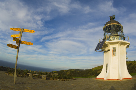 environmental issues: Cape Reinga Lighthouse, Aupouri Peninsula, Northland, North Island, New Zealand