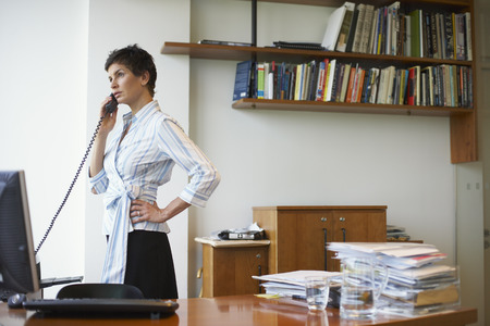 homeoffice: Woman in Home Office