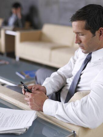 Businessman Using Cellular Telephone LANG_EVOIMAGES