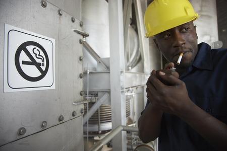 skepticism: Worker Smoking in No-Smoking Area