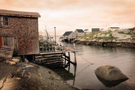 down beat: Peggys Cove, Nova Scotia, Canada