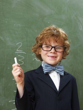 Portrait of Boy at School
