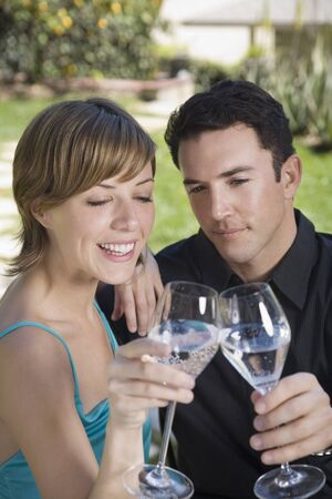 seltzer: Couple Drinking Sparkling Water LANG_EVOIMAGES