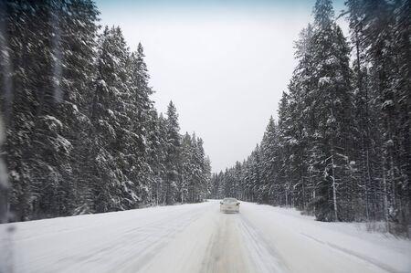 Highway 1A in Winter, Alberta, Canada