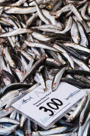 Fresh Fish at Market, Rialto Market, Venice, Veneto, Italy LANG_EVOIMAGES