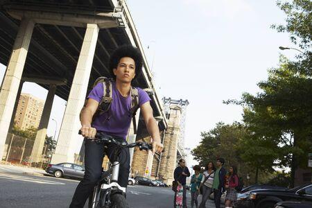 road cycling: Teenaged Boy on Bicycle