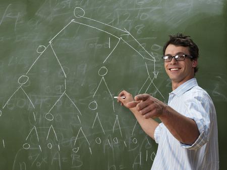 vocational high school: Teacher at Blackboard