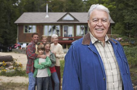 grampa: Portrait of Extended Family by Cottage
