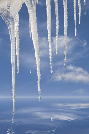 environmental issues: Melting Icicles