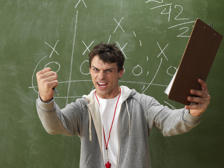 vocational high school: Coach Yelling LANG_EVOIMAGES