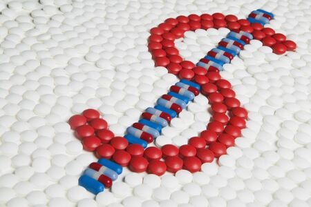 Dollar Sign Made out of Pills