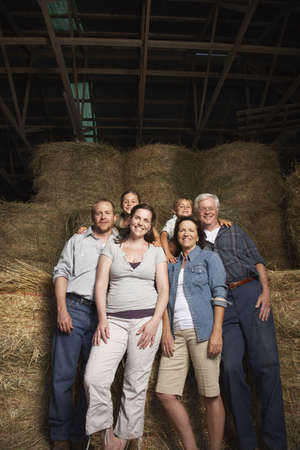 grampa: Portrait of Extended Family in Barn