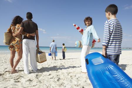 grampa: Family on the Beach