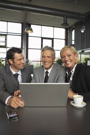 Business People with Laptop Computer