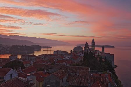 oceanic: Town of Rab at Dawn, Rab Island, Croatia